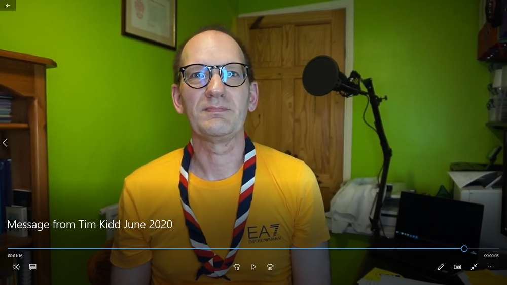 A Special Message to 1st Harpenden from Tim Kidd, UK Chief Commissioner